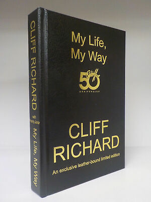 Rare Cliff Richard My Life My Way 50th Anniversary Leather Bound Limited Edn • 74.99£