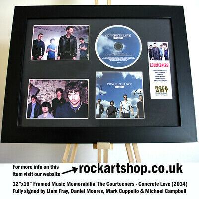 COURTEENERS Concrete Love FULLY SIGNED LIAM FRAY +DANIEL+MARK +MICHAEL Autograph • 99.98£
