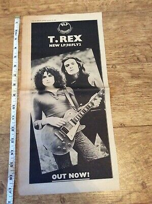 T Rex - HIFLY2 - Vintage Music Newspaper Advertisement 1970 • 9.99£
