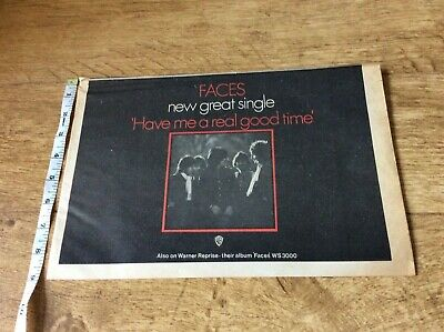 Faces - Have Me A Real Good Time - Vintage Music Newspaper Advertisement 1970 • 8.99£