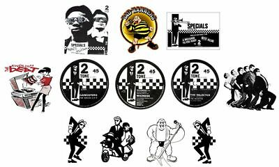 X12 6cm Ska Vinyl Window Stickers 2Tone Specials Madness Selecter Bad Manners   • 6.99£