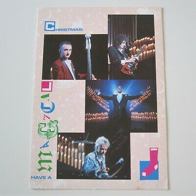QUEEN Official 1986 Fan Club Christmas Card Pre-Printed Signed Autographs   • 24.99£