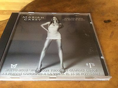 Mariah Carey - When You Believe - Spanish Different Pic Sleeve Promo Only Cd. • 85£