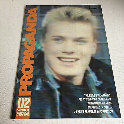U2 Propaganda No 2 World Service Magazine 1986 Fan Club Larry Mullen Bono Edge • 25£