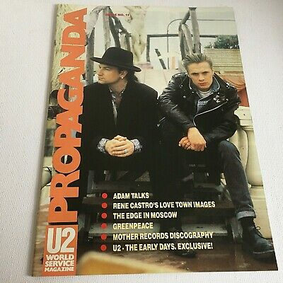 U2 Propaganda No 11 World Service Magazine 1989 Fan Club Bono Adam Clayton • 25£