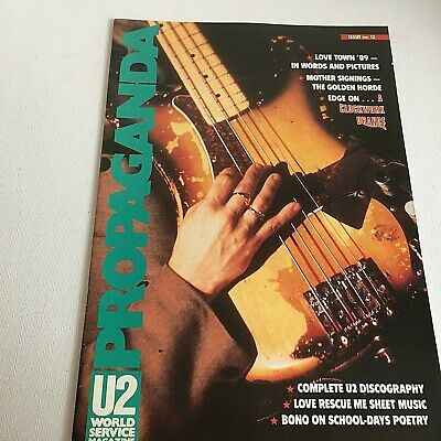 U2 Propaganda No 12 World Service Magazine 1990 Fan Club Bono Love Town The Edge • 25£