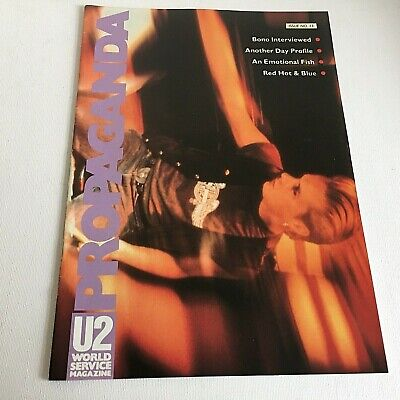 U2 Propaganda No 13 World Service Magazine 1990 Fan Club Larry Mullen Bono Edge • 25£