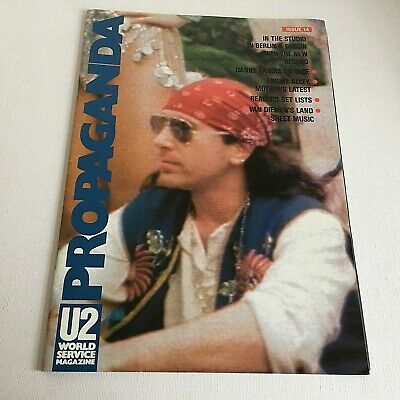 U2 Propaganda No 14 World Service Magazine 1991 Fan Club Larry Mullen Bono Edge • 25£