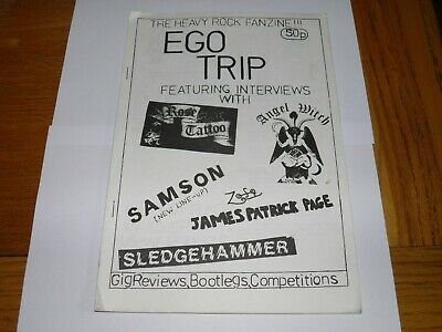 Ego Trip No 1 - Fanzine 1982 Jimmy Page Rose Tattoo Angel Witch Samson Sledgeham • 29.99£