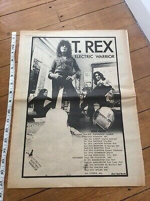T Rex - Electric Warrior Tour Dates - Vintage Music Newspaper Advertisement 1971 • 21.99£