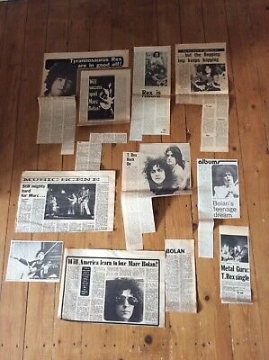Tyrannosaurus Rex  Music Newspaper Articles Cuttings 1969/70 Job Lot Bundle • 23.99£