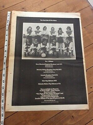 Pink Floyd - The Dark Side Of The Moon - Music Newspaper Advertisement 1974 • 25.99£