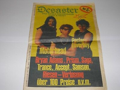 Desaster - Total Rock Magazine 3 1983 Motorhead Germany RARE • 27.99£