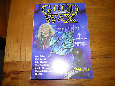 Gold Wax Magazine - 37 Jimmy Page Robert Plant Led Zeppelin 1996 RARE • 28.99£