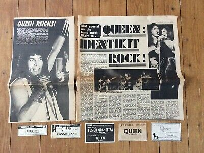 Queen Concerts Articles Music Newspaper Advertisements Vintage • 23.99£