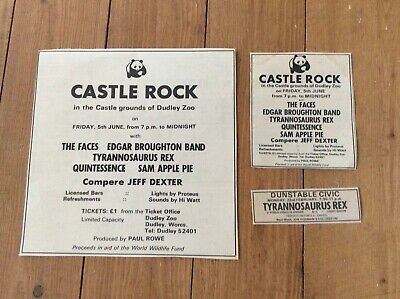 Tyrannosaurus Rex Concert Dates Music Newspaper Cuttings X 3 • 17.99£