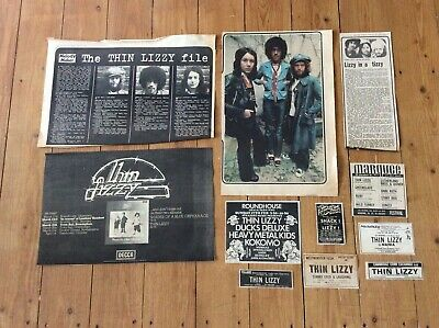 Thin Lizzy Concerts Articles Music Newspaper Advertisements • 24.99£