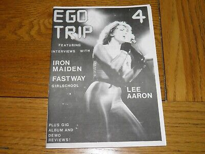 Ego Trip No 4 - Fanzine 1983 Lee Aaron Iron Maiden Fastway Girlschool NWOBHM  • 24.99£