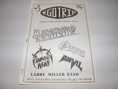 Ego Trip No 3 - Fanzine 1983 Hawkwind Saxon Anvil NWOBHM Larry Miller Diamond Hd • 24.99£