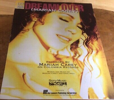 MARIAH CAREY - Dreamlover - (Easy Piano) Music Sheet, Full Picture Sleeve. • 30£