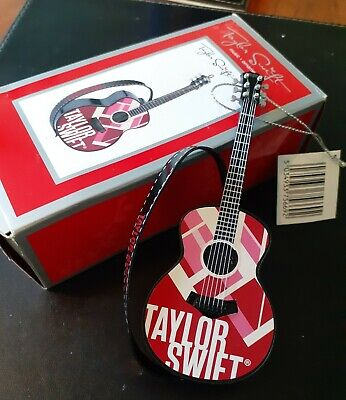 Taylor Swift Guitar Ornament - Plays Part Of  Red  Boxed BNIB • 24.95£