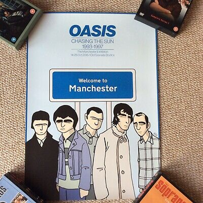 OASIS LIMITED EDITION Pete McKee POSTER Welcome To Manchester 59 X 42cm • 29.99£