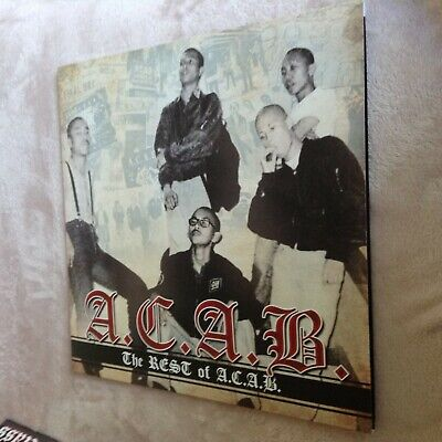 A.C.A.B - The Rest Of LP (Yellow Vinyl + CD) Punk/Oi!/Blitz/4 Skins/Exploited • 16.99£