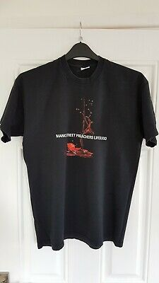 Vintage MANIC STREET PREACHERS T Shirt Lifeblood Tour 2004 Size Medium • 11.05£