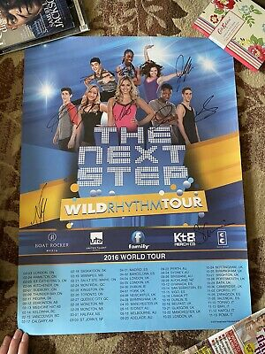 The Next Step Wild Rythm Dance Tour Signed Autographed Poster • 34.99£