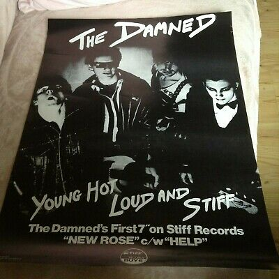 PUNK PROMO POSTER.... THE DAMNED - New Rose 7  ... (17  X 24 ) • 9.50£