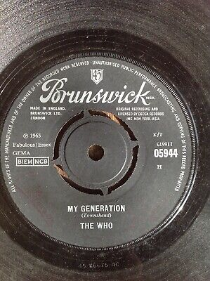 The Who / My Generation / Brunswick 45rpm 1965 • 2£
