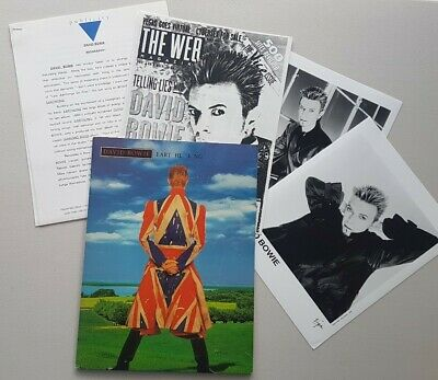 David Bowie Earthling ORIGINAL RCA 1997 US Promo Photos Press Kit Very Rare • 39.99£