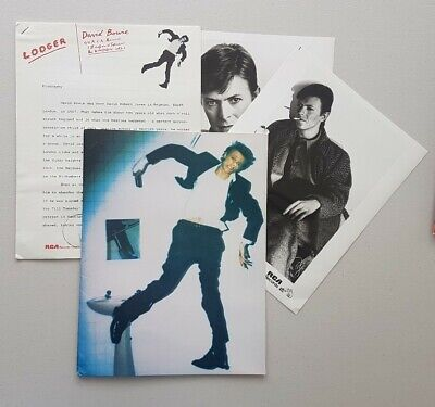 David Bowie Lodger ORIGINAL RCA 1979 US Promo Photos Press Kit Very Rare • 59.99£