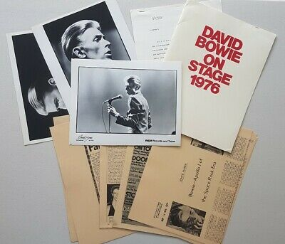David Bowie Station Tour ORIGINAL RCA 1976 US Promo Photos Press Kit Very Rare • 99.99£