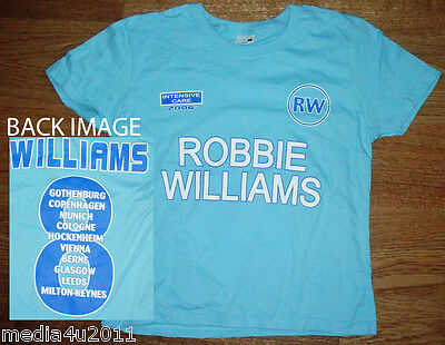 Robbie Williams Intensive Care 2006 Concert Tour Skinny T Shirt Xs Blue New • 7.99£