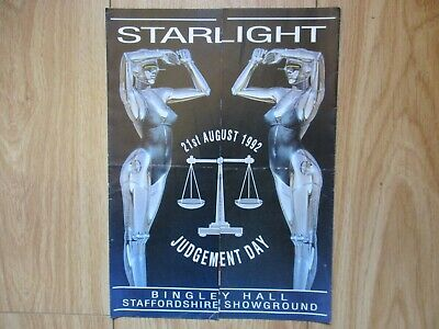 Starlight-Judgement Day Aug 92 @ Bingley Hall Staffordshire A4 Rave Flyer • 2.99£