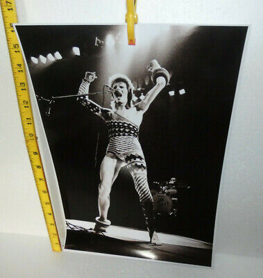 Large Photo David Bowie Singing On Stage (ref E) • 3£