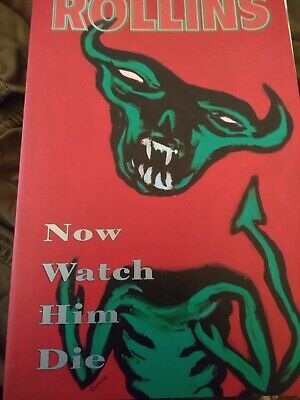 Henry Rollins - Now Watch Him Die Paperback - 2.13.61 - Good Condition  • 15£