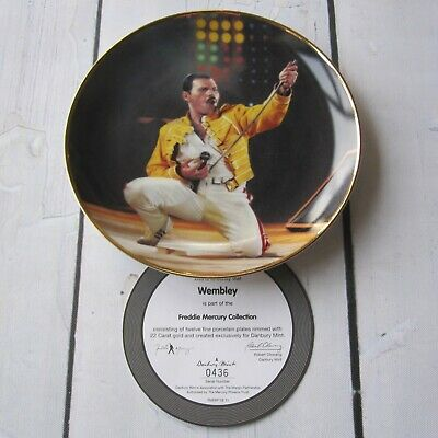 Freddie Mercury : Official Wembley Danbury Mint Plate + COA + Box Queen • 104.95£