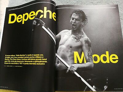 Depeche Mode Dave Gahan Cover Rolling Stone Music Mag Italy 2013 Rare • 39£