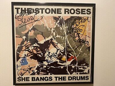 100% Authentic Signed Stone Roses LP She Bangs The Drum (make Me An Offer) • 699£