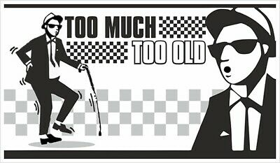 Too Much Too Old Ska Vinyl Stickers Window Laptop 2 Tone Skinhead Funny Specials • 4.99£