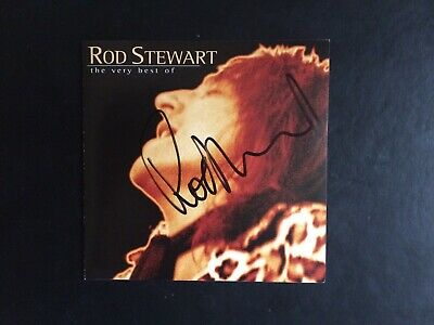 """ROD STEWART HAND SIGNED AUTOGRAPHED CD BOOKLET """"The Very Best Of..."""" • 39.98£"""