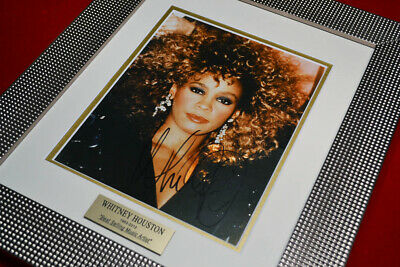 Rare WHITNEY HOUSTON Signed Original Autograph, Frame, Plaque, COA, UACC RD#228 • 665.58£