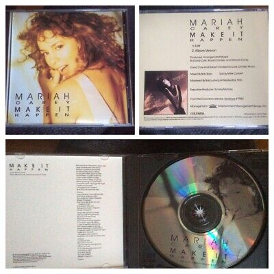 MARIAH CAREY - Make It Happen - USA 2trk Promo PICTURE DISC Cd, Extremely Rare. • 95£