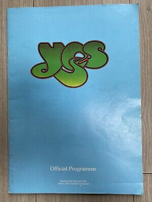 YES OFFICIAL STADIUM TOUR PROGRAMME May 1975, VERY RARE. • 19.99£
