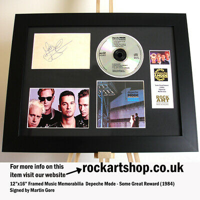 DEPECHE MODE Some Great Reward SIGNED MARTIN GORE Autographed Framed *WORLD SHIP • 219.98£