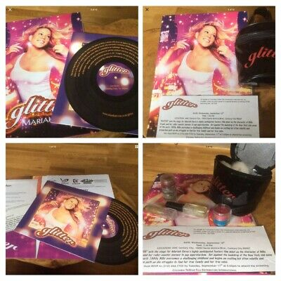 Mariah Carey - Glitter - Press Kit / Invitation / Make-up Bag - Ultra Rare • 450£