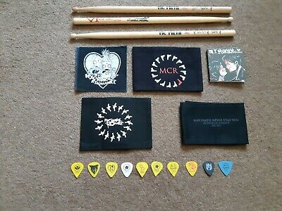 My Chemical Romance Collectables - Sticks / Picks / Arm Bands / Patch / Cd • 249£