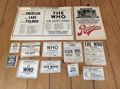 The Who Concert Dates Music Newspaper Advertisements Cuttings 1970s Job Lot  • 27.99£